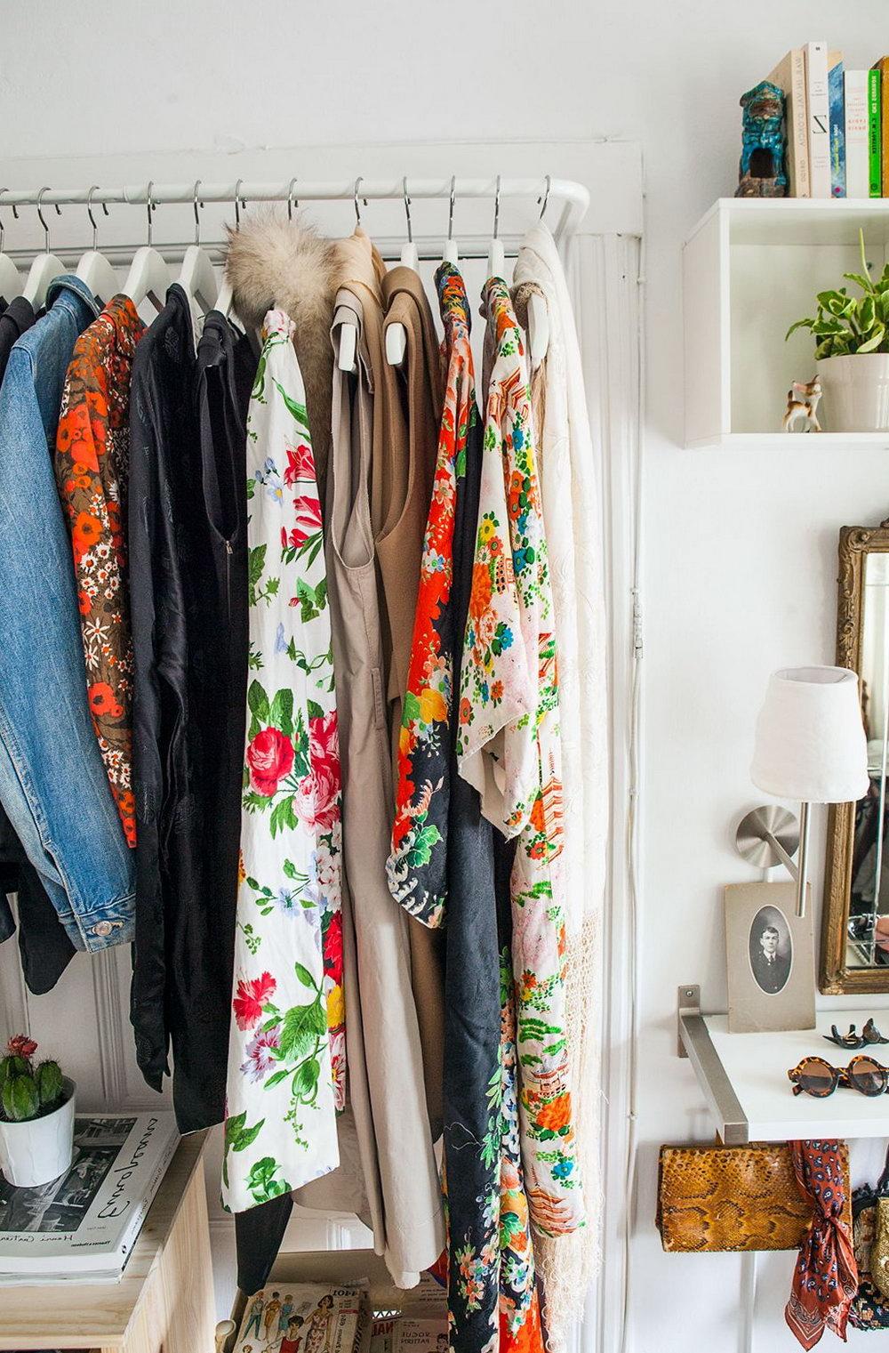 Clothes Storage Ideas No Closet