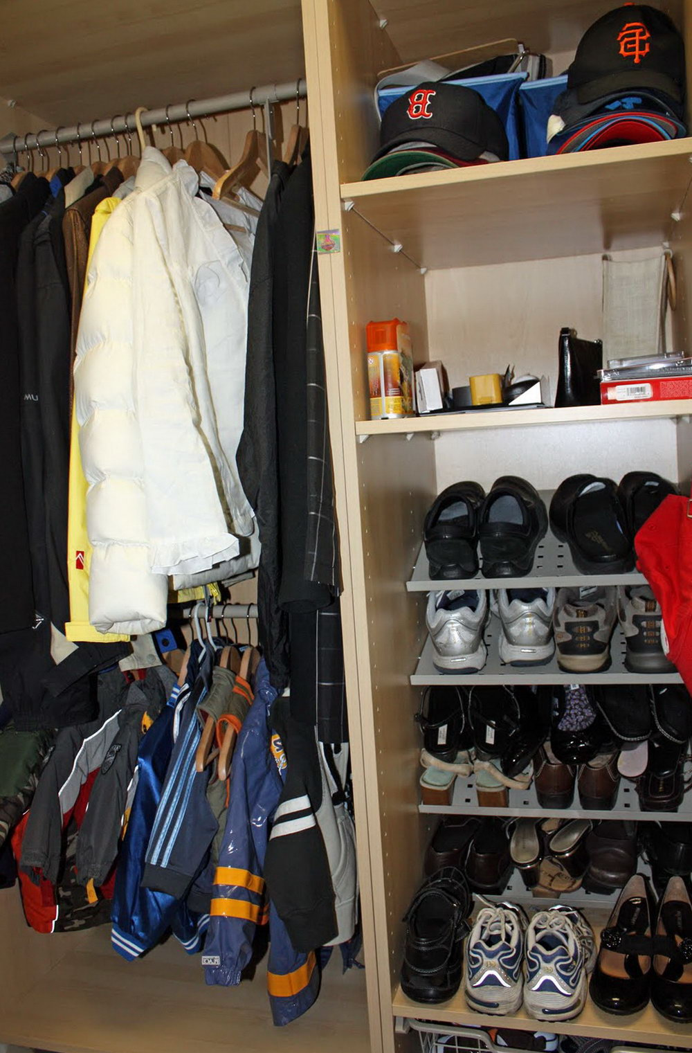 Hunting Clothes Storage Closet