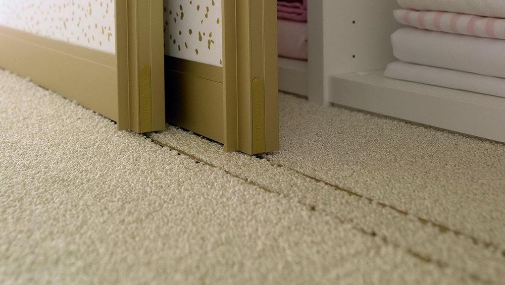 Install Closet Doors Over Carpet