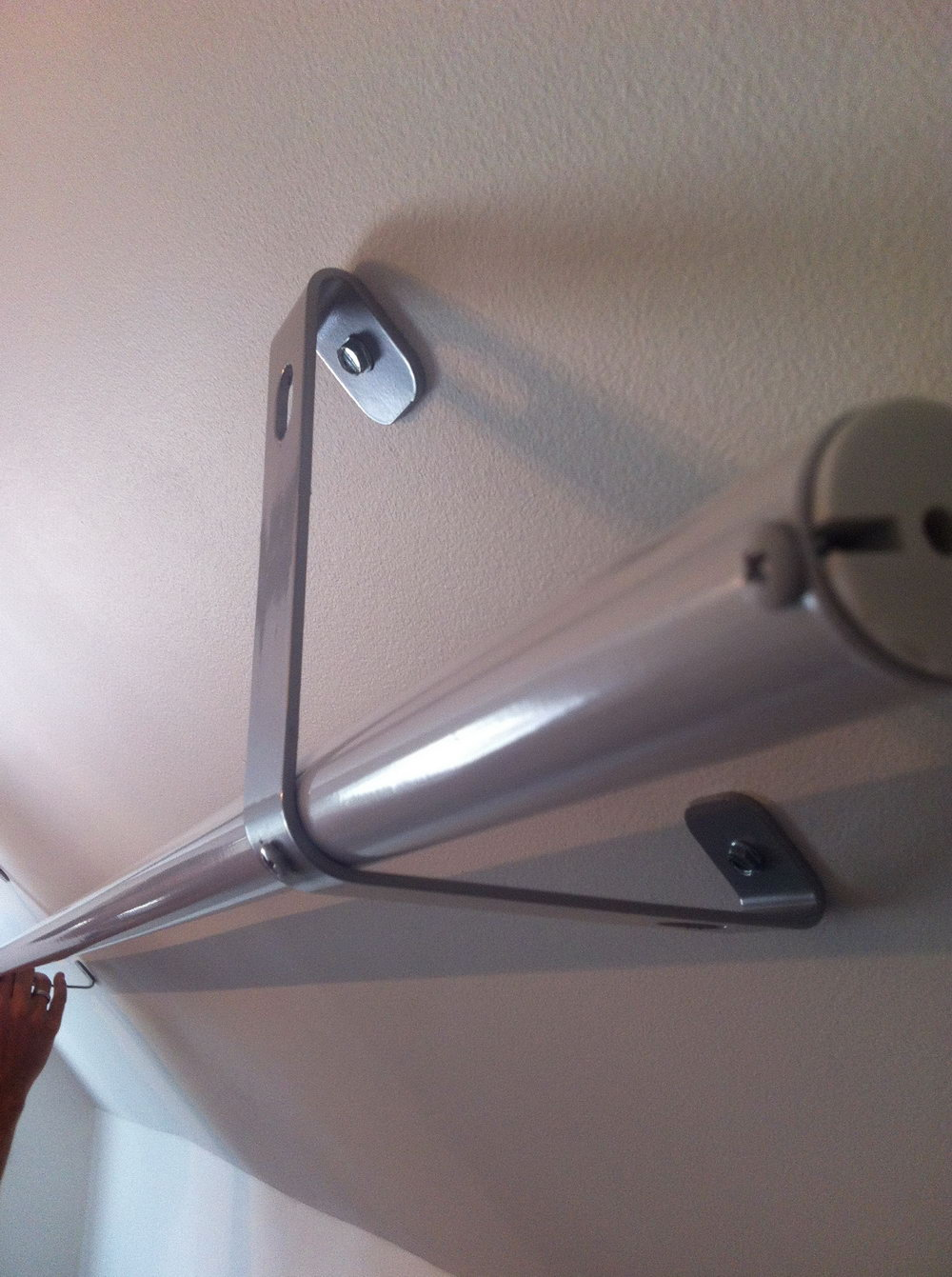Installing Closet Rod On Angled Wall