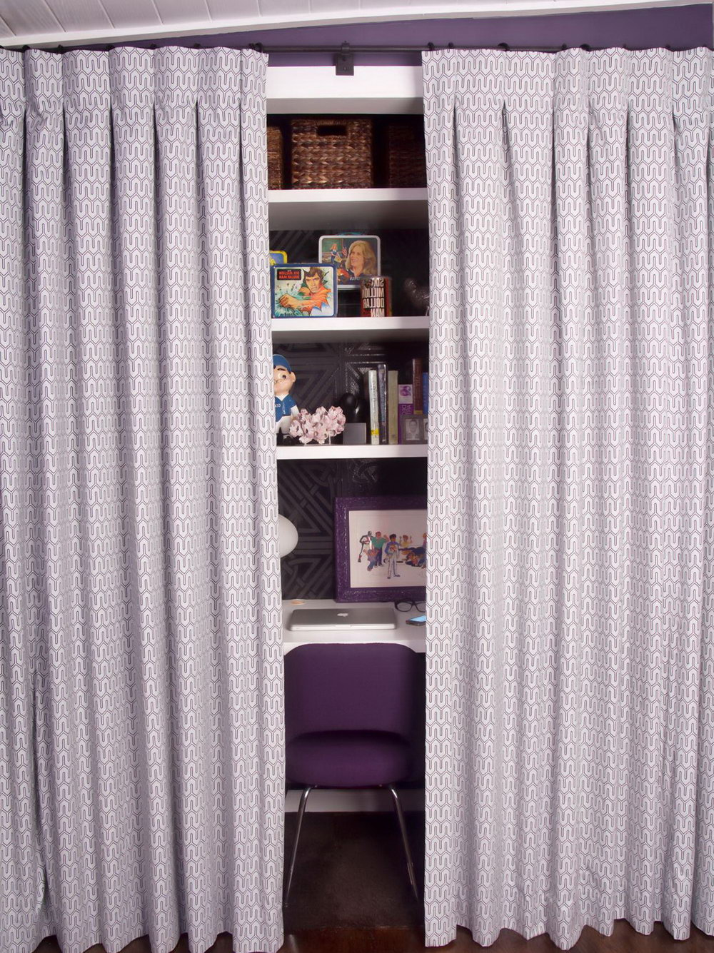 Making A Closet With Curtains