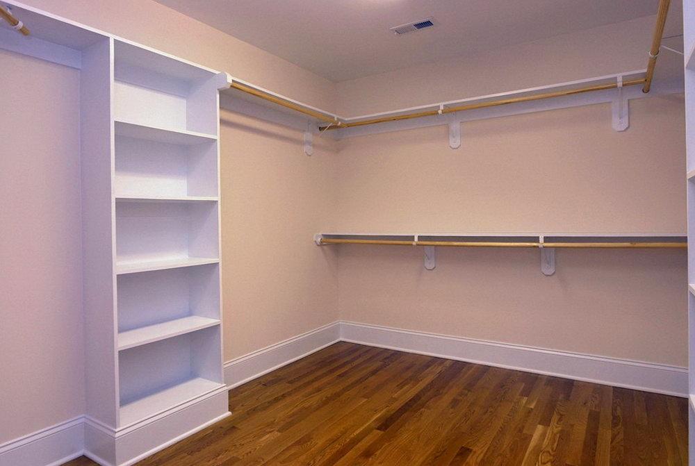 Master Closet Shelving Ideas
