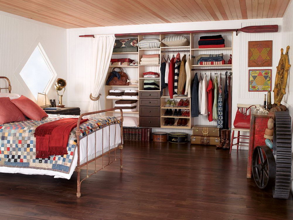 Open Concept Bedroom Closet