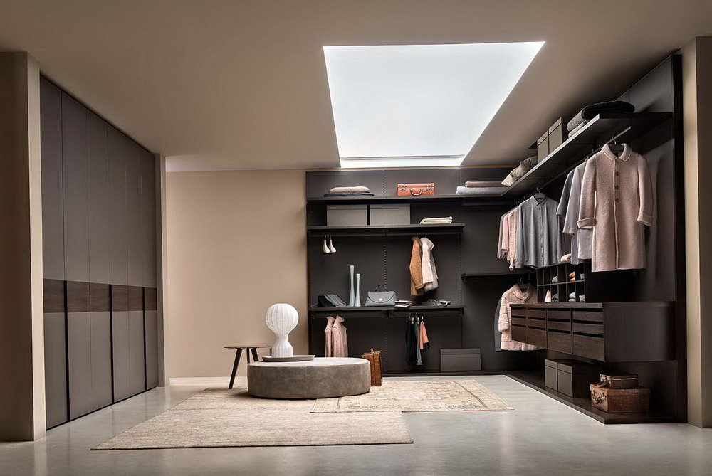 Open Concept Walk In Closet
