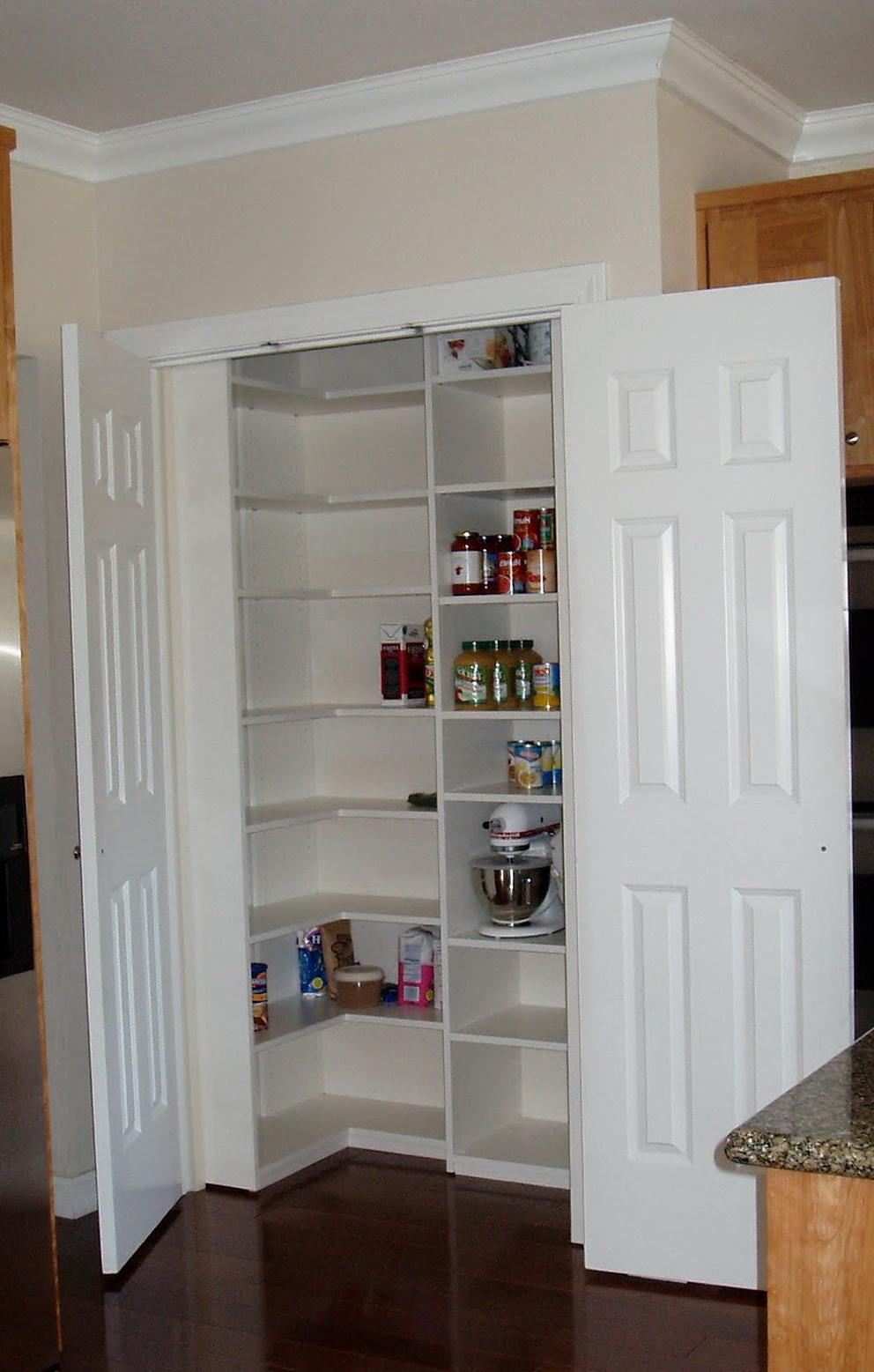 Small Pantry Closet Shelving Ideas