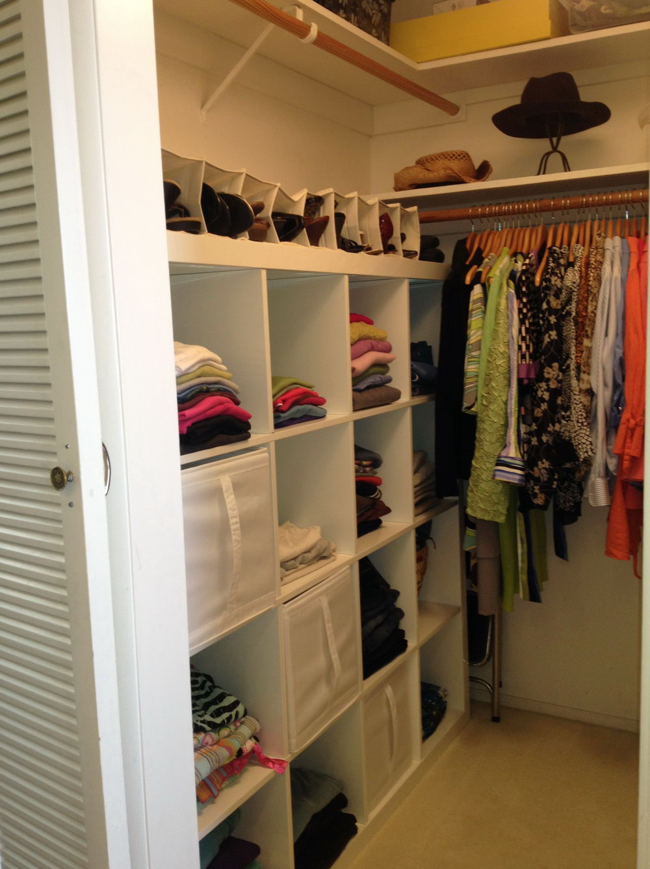 Small Walk In Closet Organization Pinterest