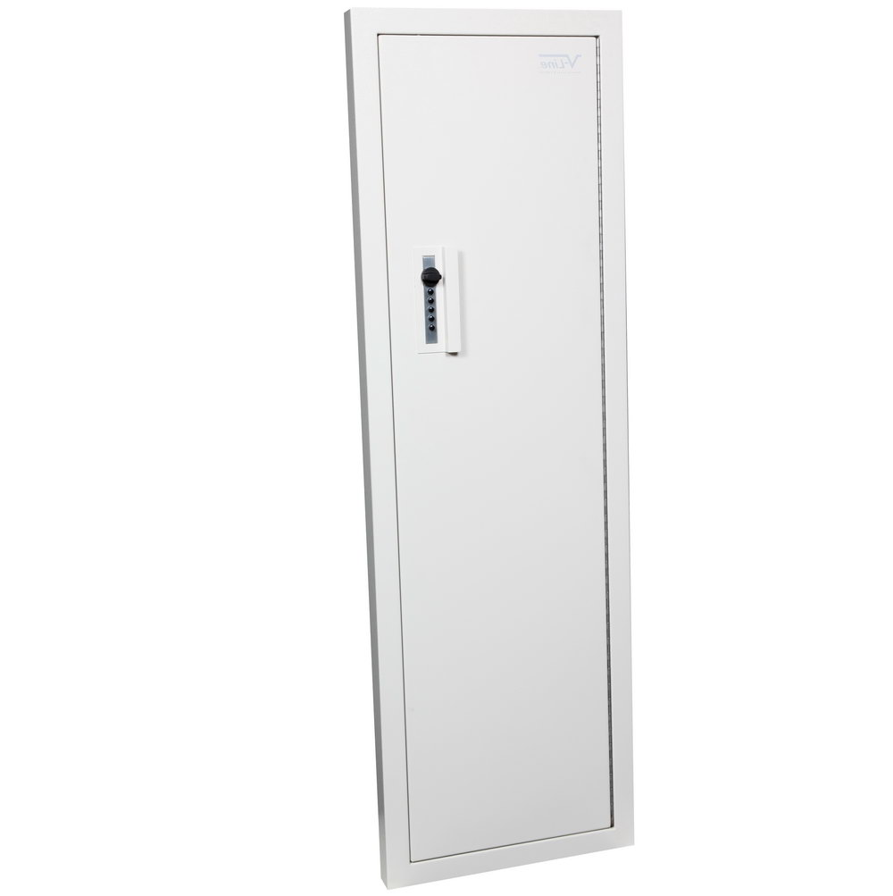 V Line Closet Vault Ii Gun Safe & In Wall Cabinet Off White