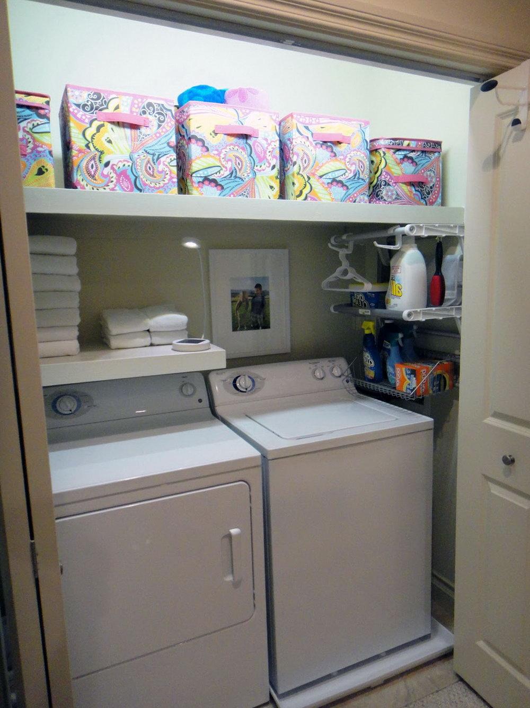 Walk In Closet Laundry Room Combo