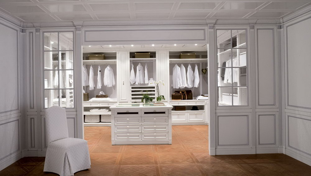 White Walk In Closet Designs