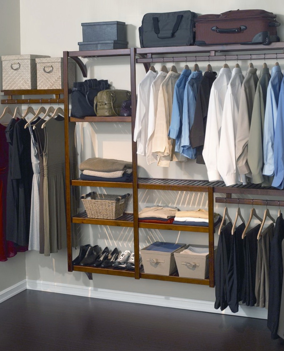 Wood Clothes Closet Storage