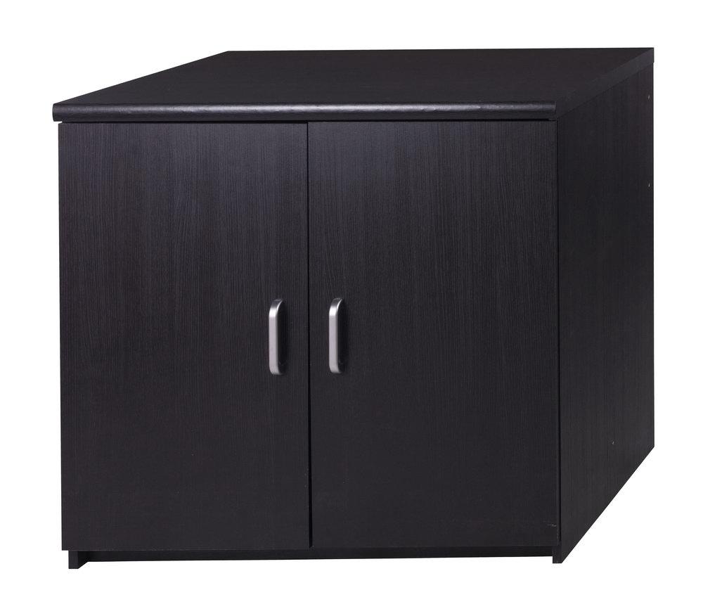 2 Door Storage Cabinet Black