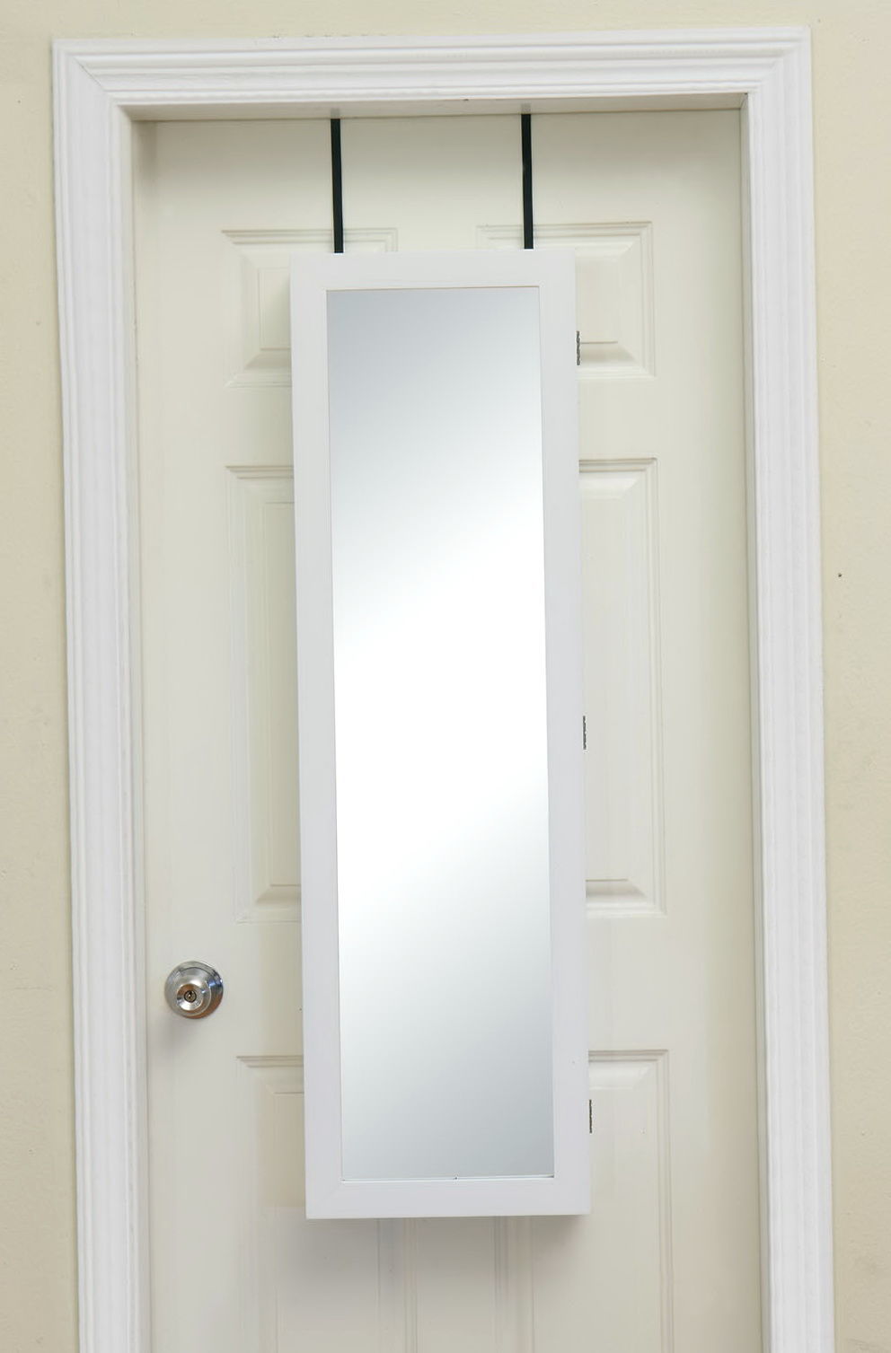Behind Door Storage Cabinet With Full Length Mirror