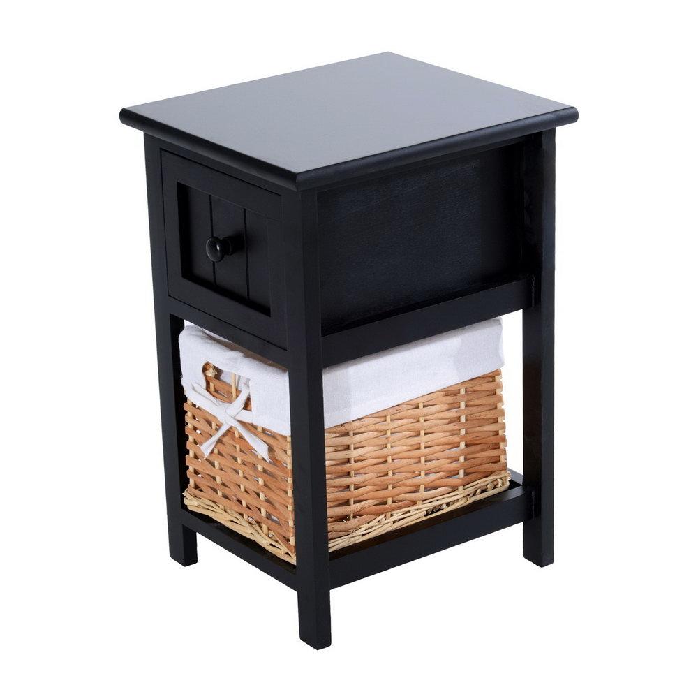 Black Storage Cabinet With Baskets