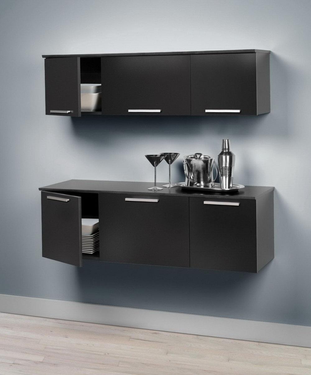 Black Wall Storage Cabinet