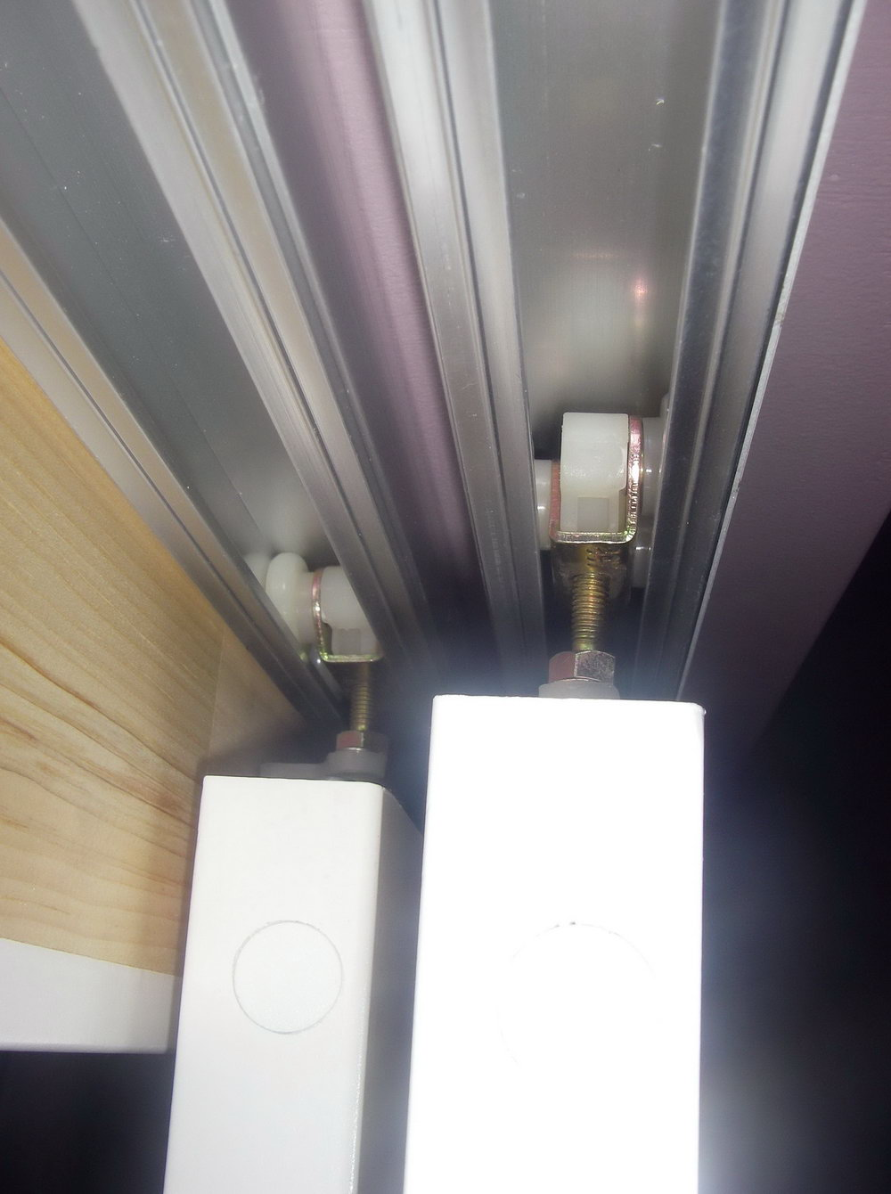 Bypass Closet Door Track System