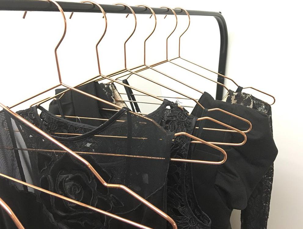 Closet Complete Velvet Hangers Rose Gold