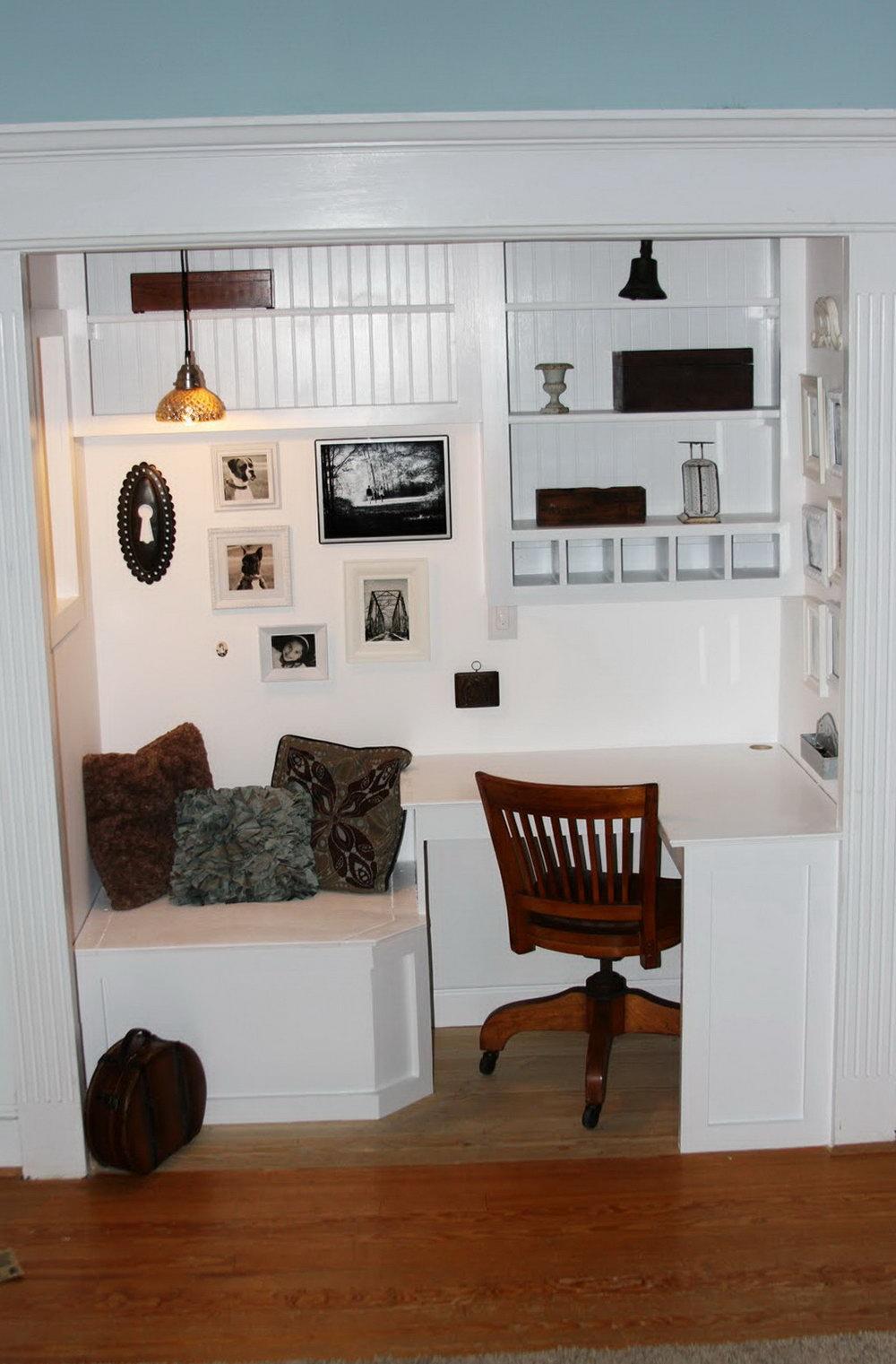 Closet Into Office Ideas