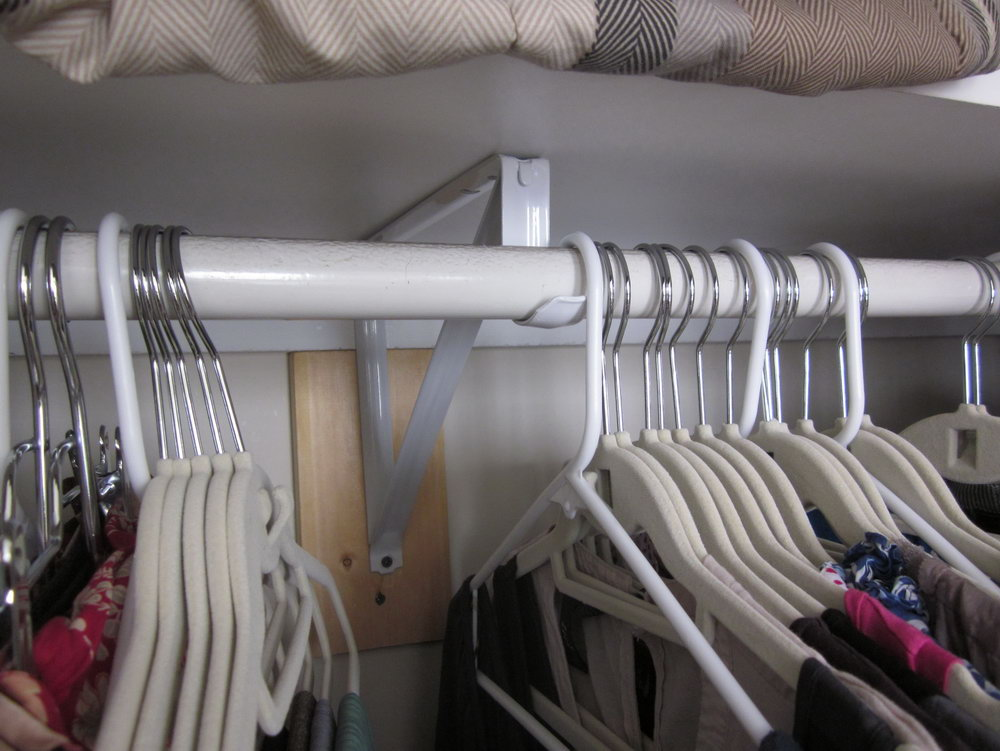 Closet Shelf Support Hardware
