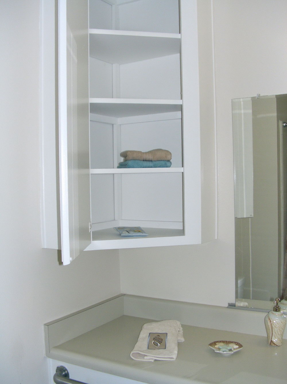 Corner Bathroom Storage Cabinet