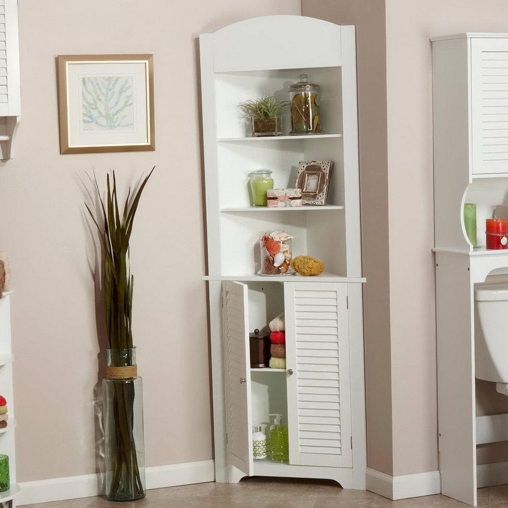 Corner Storage Cabinet White