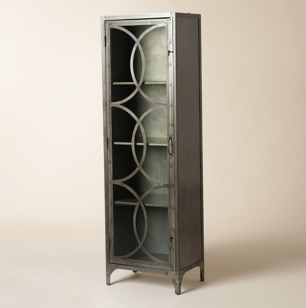 Glass Storage Cabinet With Lock