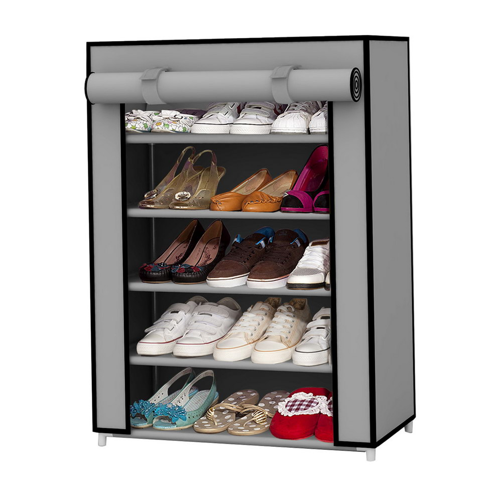 Grey Shoe Storage Cabinet