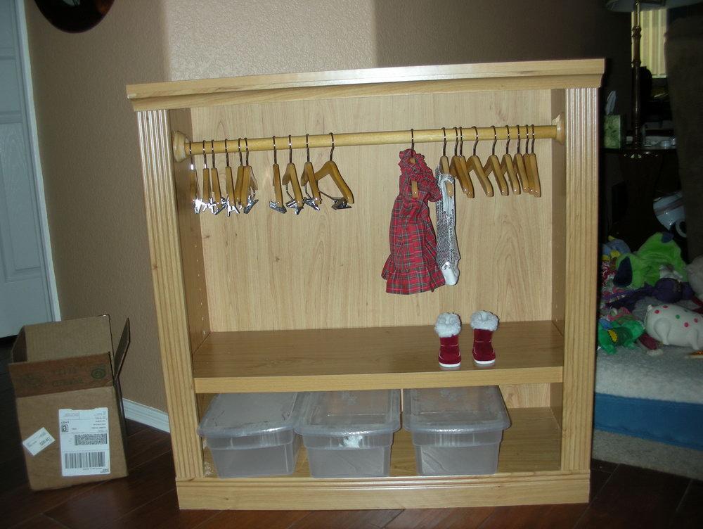 How To Make A Doll Clothes Closet
