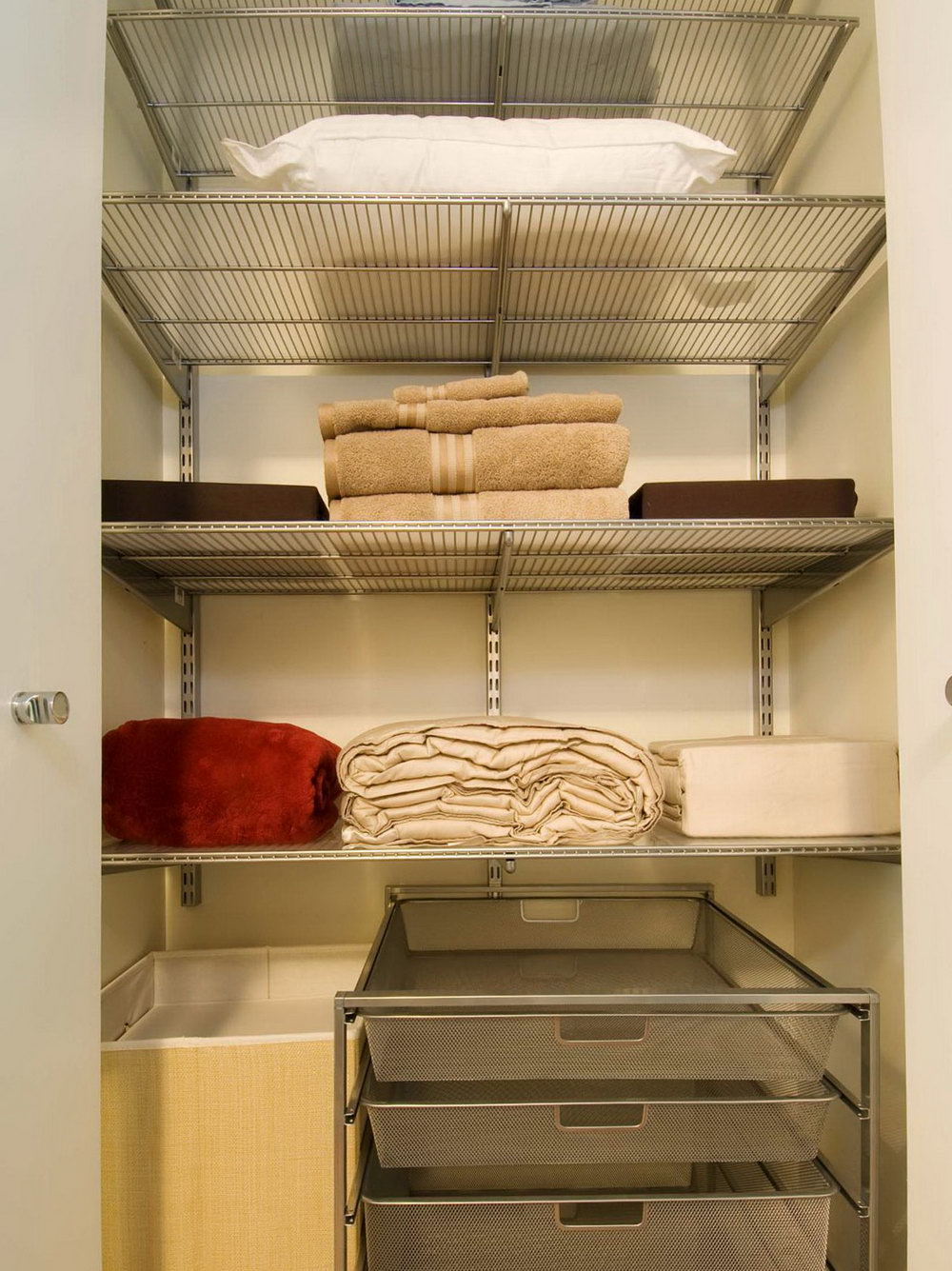 How To Organize Bathroom Closet With Deep Shelves