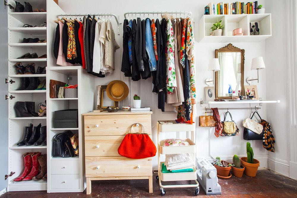 Ikea Open Closet Organizer