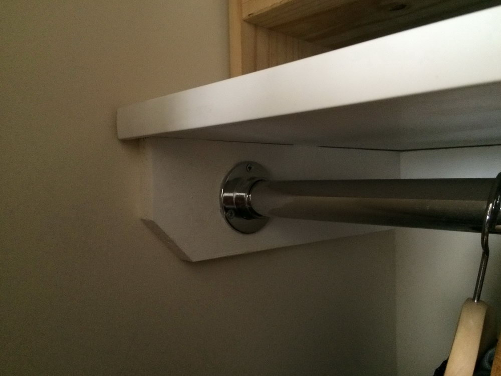 Install Closet Shelves And Rod