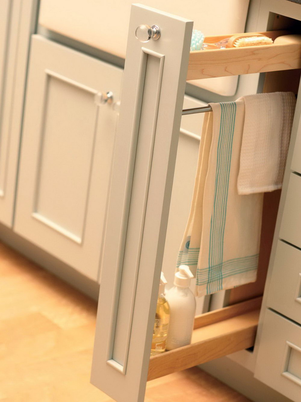 Kitchen Cabinet Storage Rack
