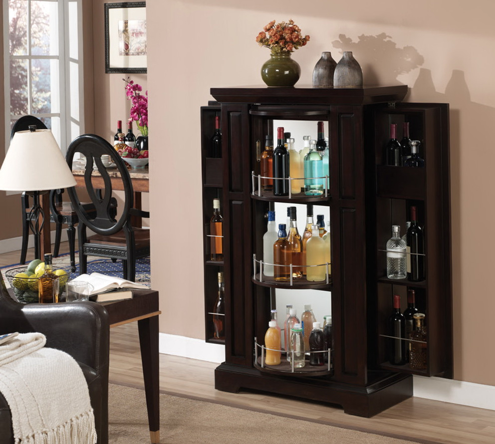 Liquor Storage Cabinet With Lock