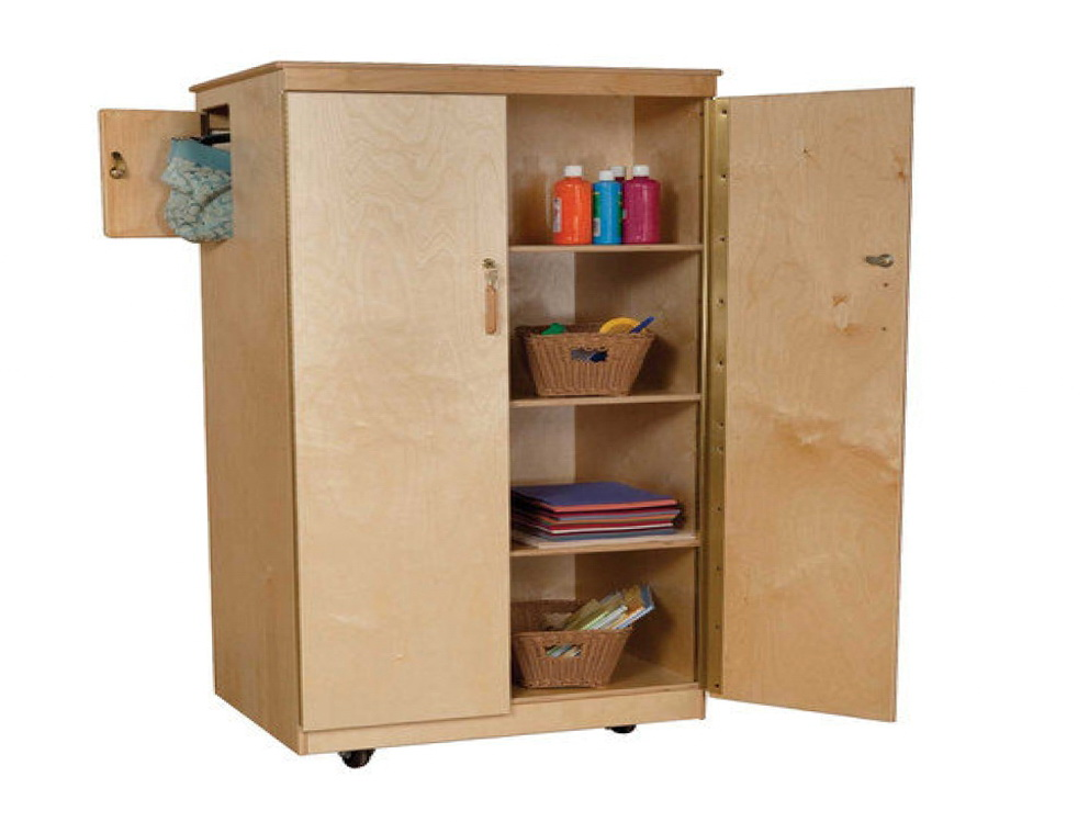 Lockable Storage Cabinet On Wheels