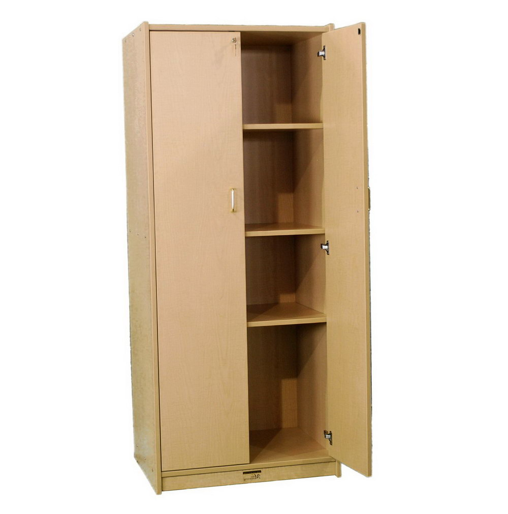 Lockable Storage Cabinet Wood
