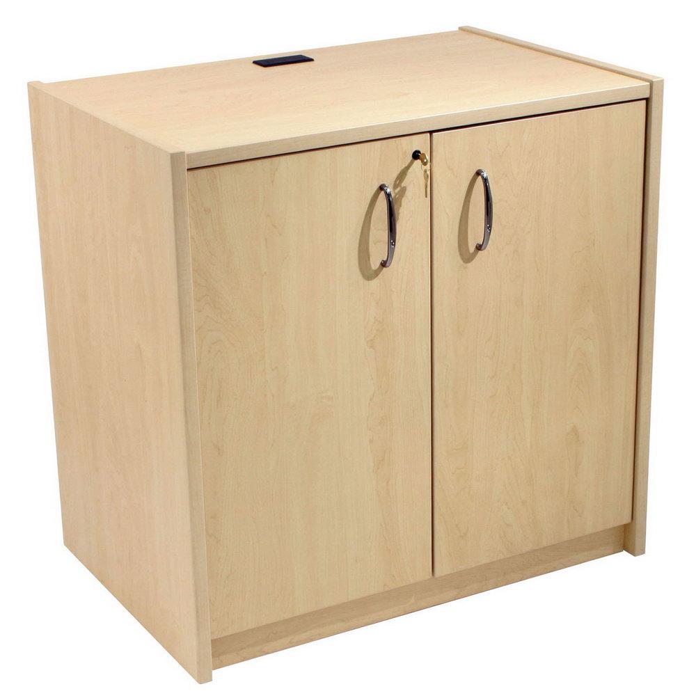 Locking Wood Storage Cabinet