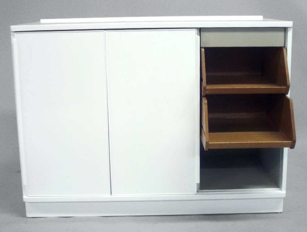 Low Storage Cabinet With Sliding Doors