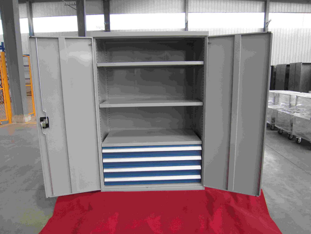 Metal Storage Cabinet With Doors And Shelves
