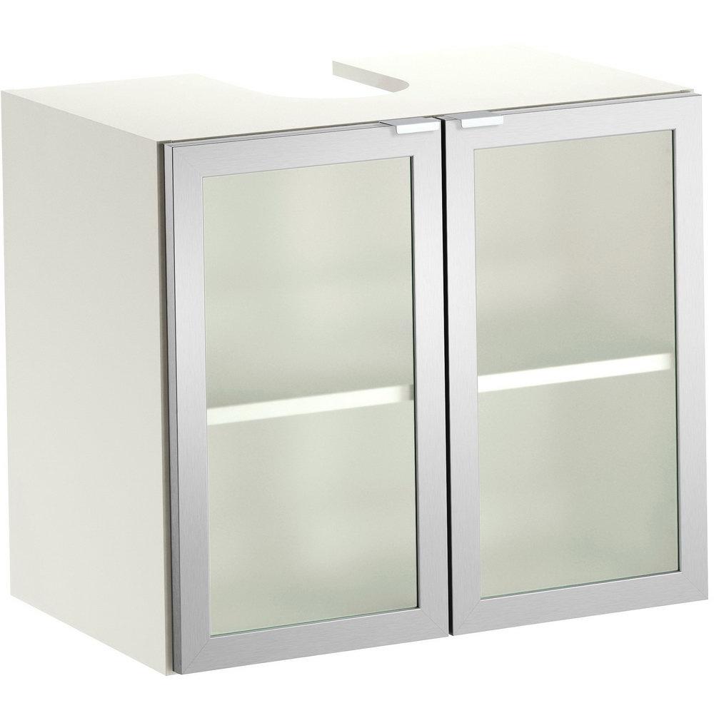 Metal Storage Cabinet With Glass Doors