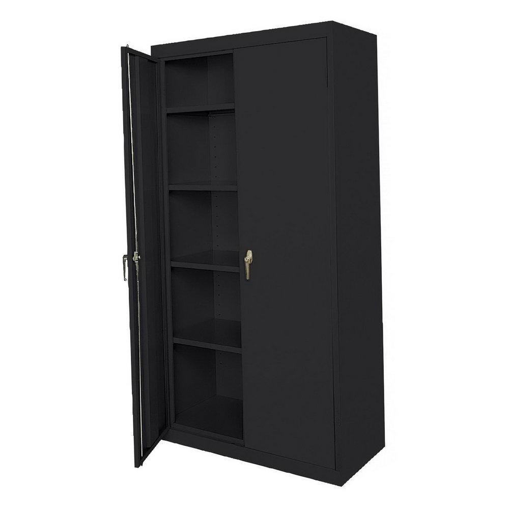 Metal Storage Cabinet With Locking Doors