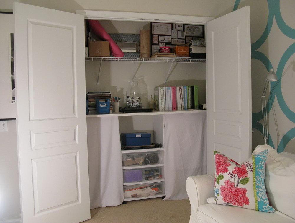Office Closet Shelving Ideas