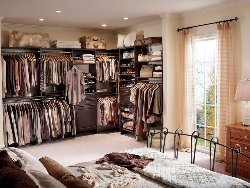 Open Closet Bedroom Ideas