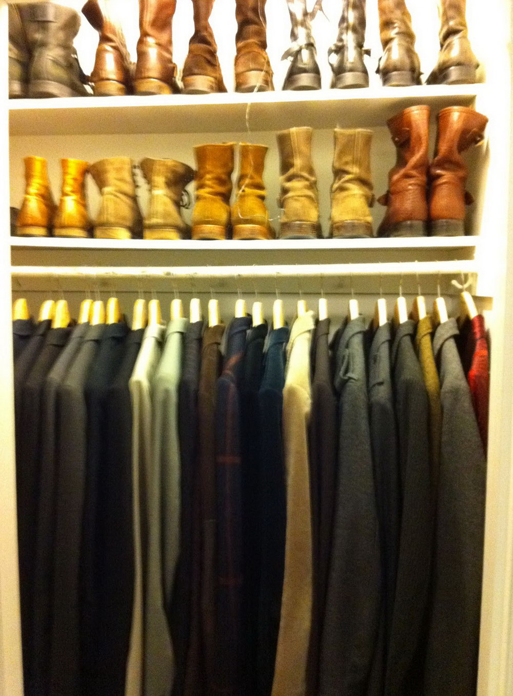 Picture Of A Closet Full Of Clothes
