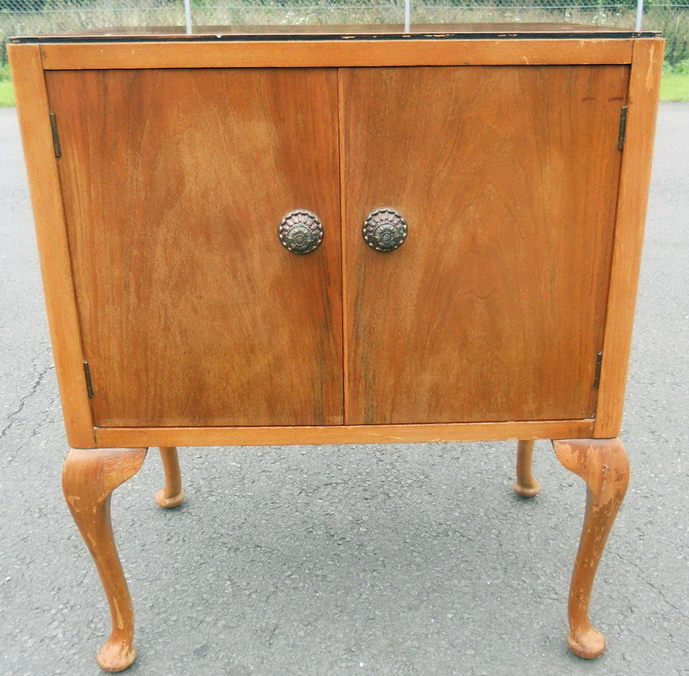 Record Storage Cabinet Vintage