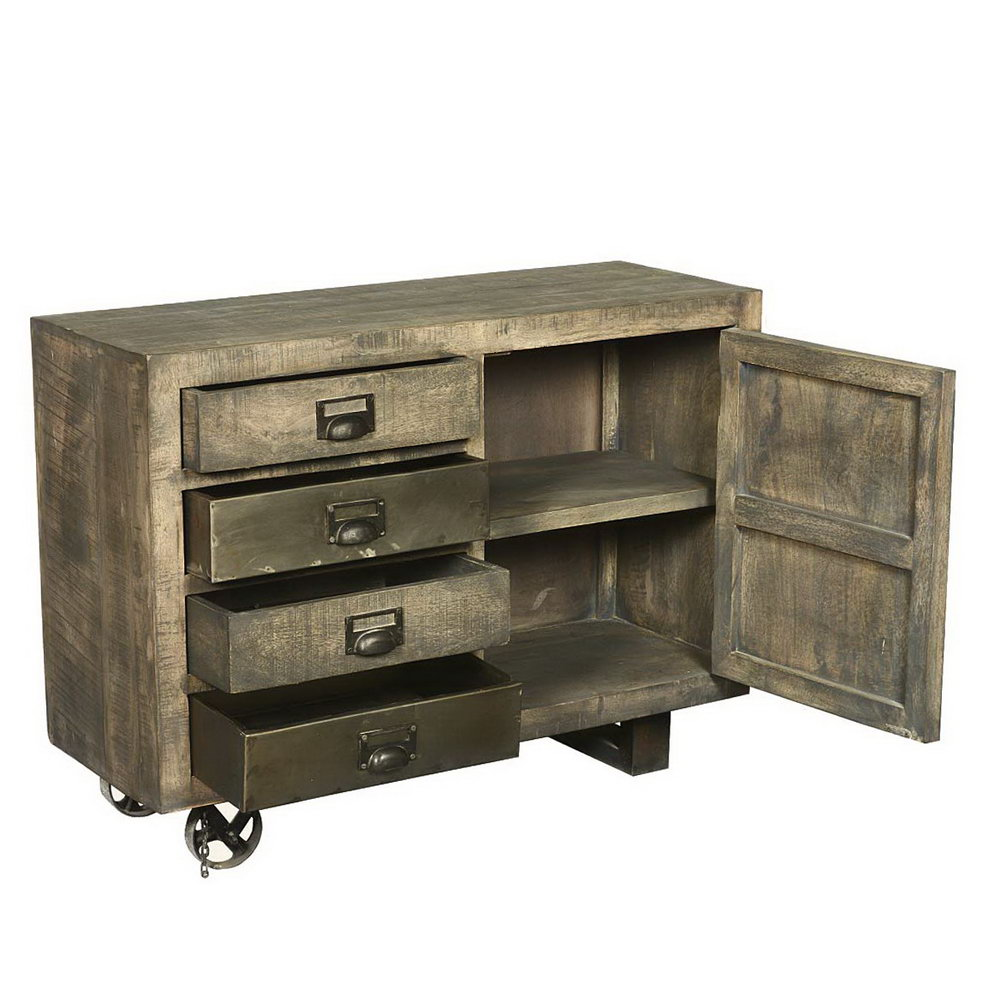 Rolling Storage Cabinet With Drawers