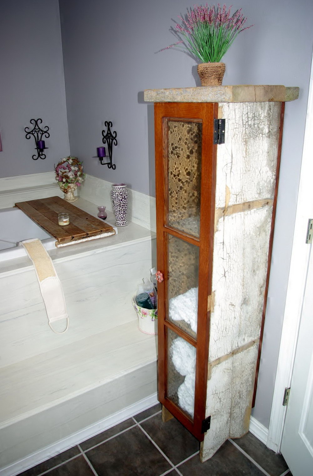 Rustic Bathroom Storage Cabinets