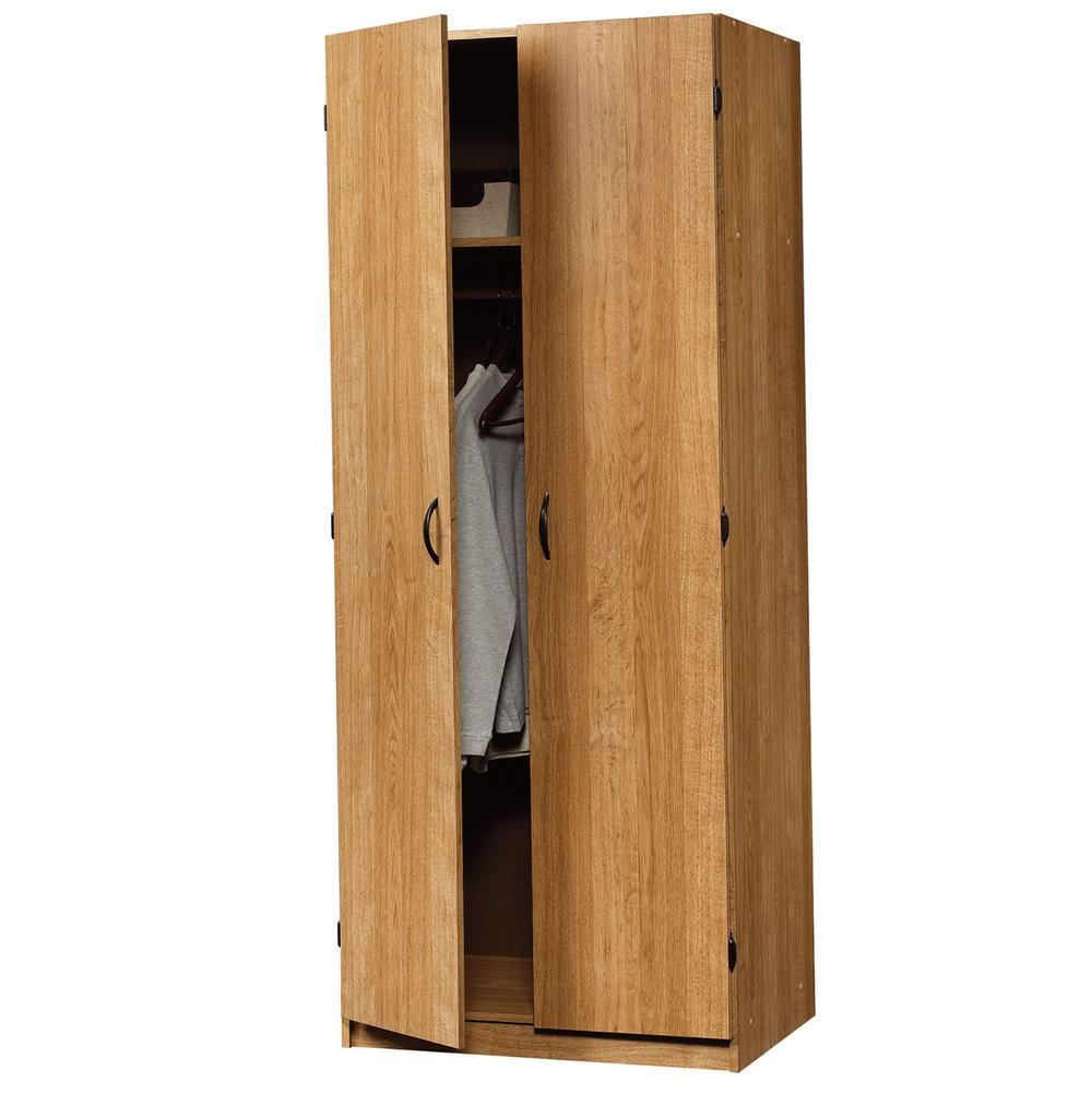 Sauder Beginnings Storage Cabinet With Four Adjustable Shelves Highland Oak