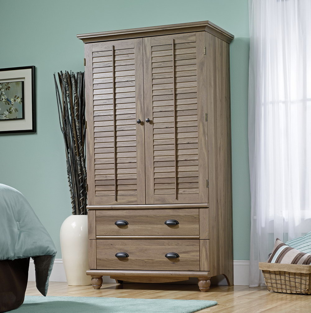 Sauder Harbor View Storage Cabinet In Salt Oak