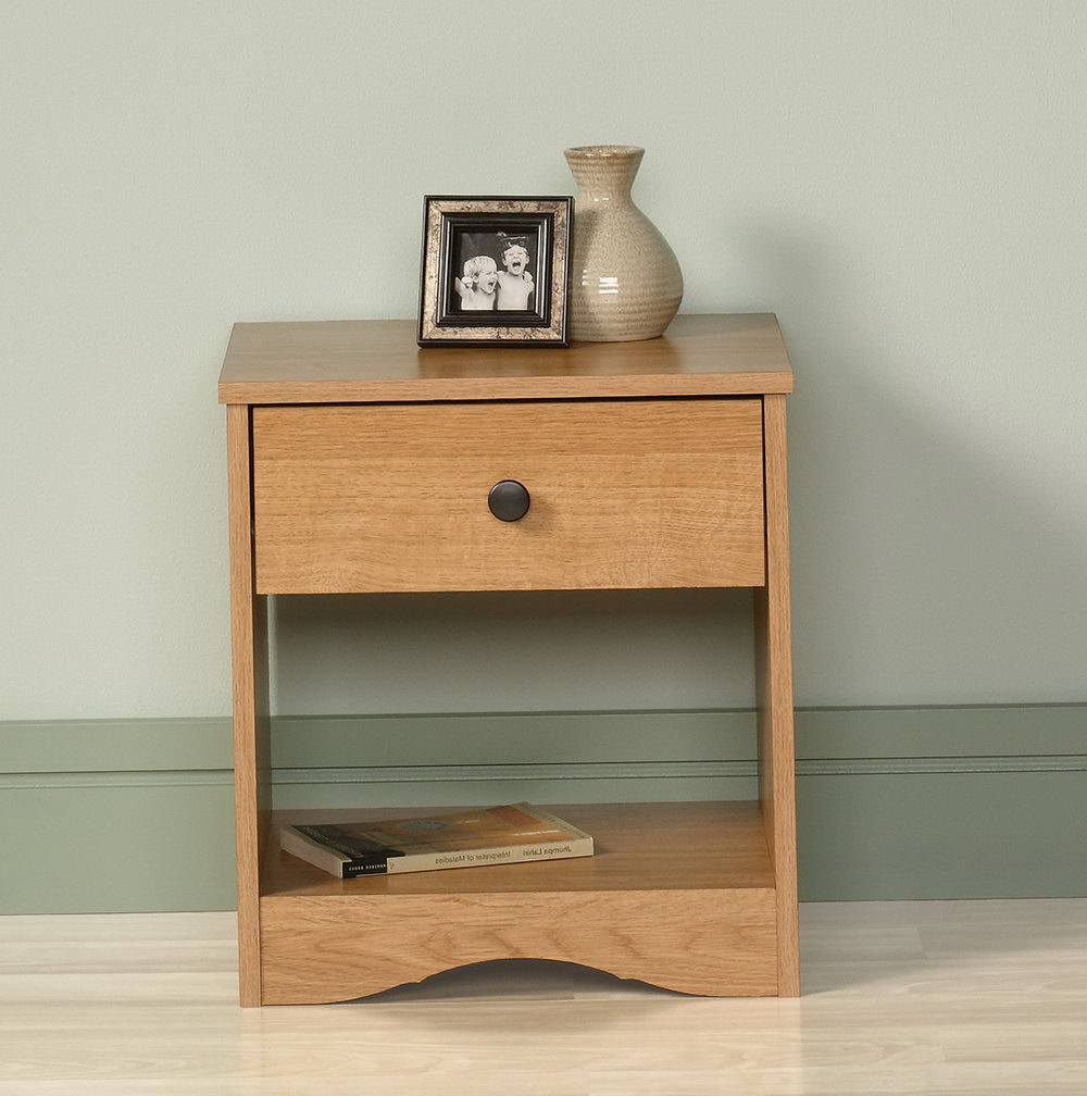 Sauder Storage Cabinet Highland Oak Finish