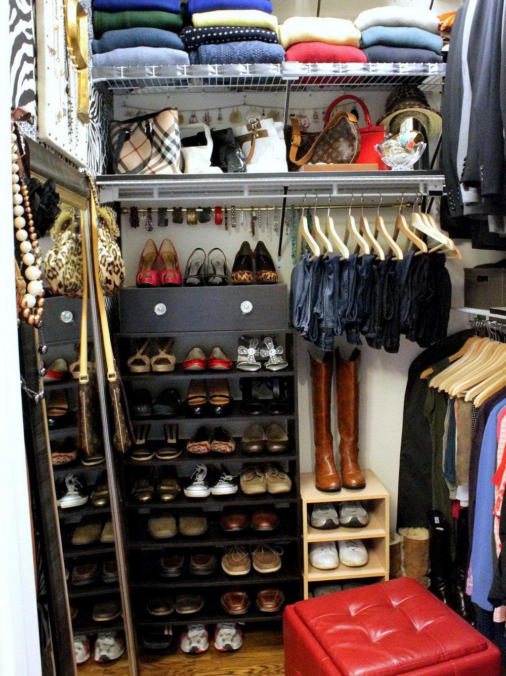 Shoe Organization In Small Closet