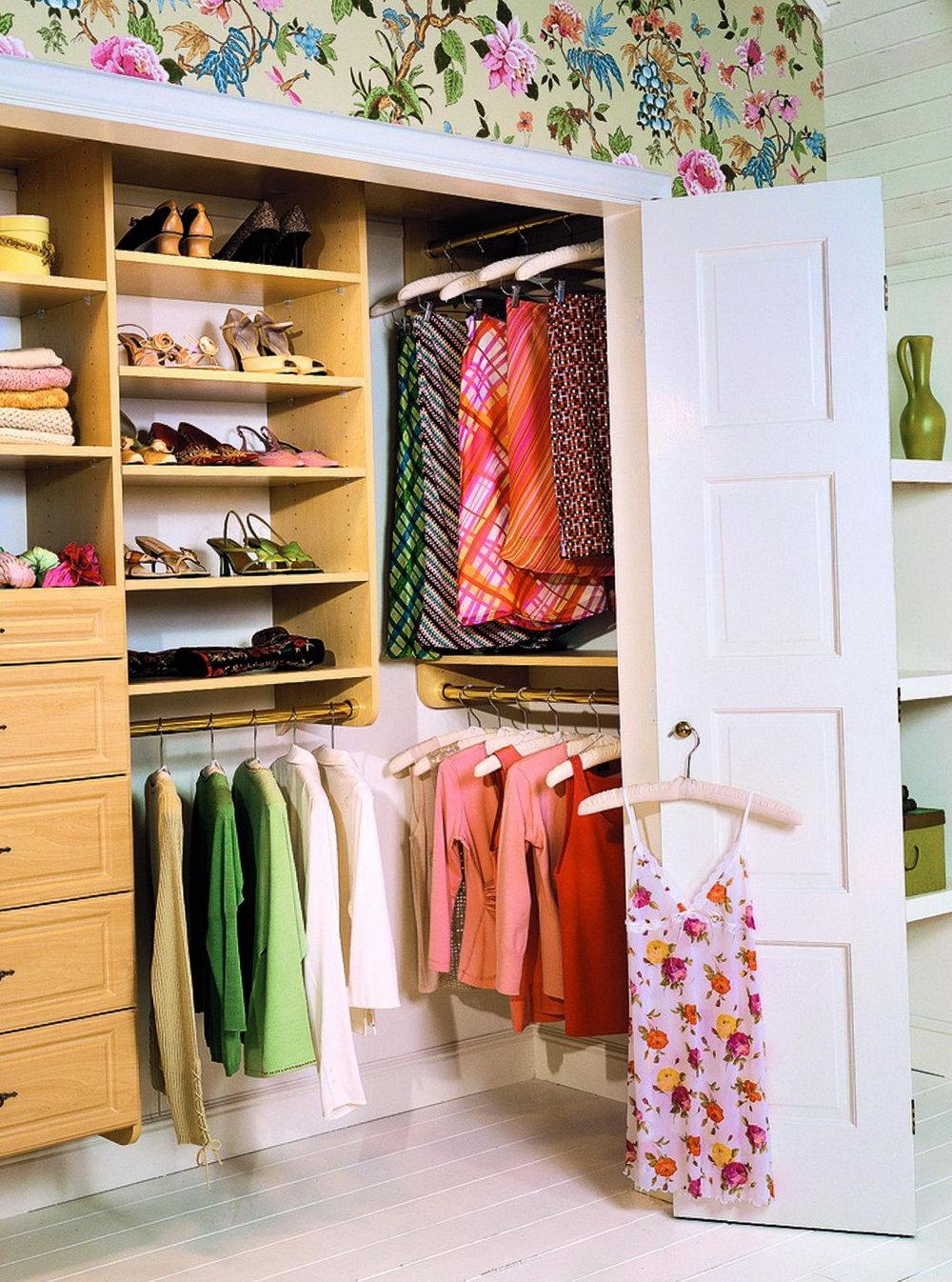 Simple Closet Shelving Ideas
